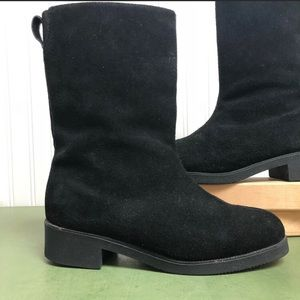 Lands' End Suede Mid-Calf Insulated Boots